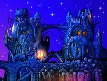 färgrikt slott Arkivfoto