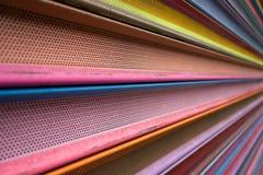 Färgrikt slut för säkerhetsport upp Arkivfoton