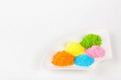 färgrikt socker royaltyfria foton
