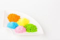 färgrikt socker arkivbilder
