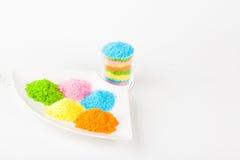 färgrikt socker arkivbild