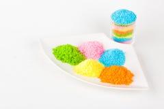 färgrikt socker royaltyfri bild