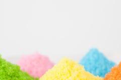 färgrikt socker arkivfoton
