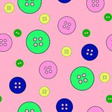 Färgrikt sorterat knappval stock illustrationer