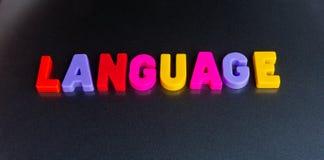 Färgrikt språk arkivbild