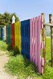 färgrikt staket Royaltyfria Foton