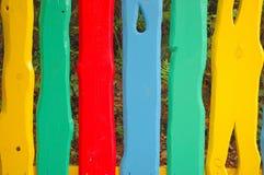 Färgrikt staket Royaltyfri Bild