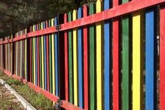 Färgrikt staket Royaltyfri Foto