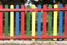 Färgrikt staket Fotografering för Bildbyråer