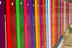 Färgrikt staket Arkivfoto