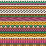 Färgrikt stam- tryck seamless vektor för bakgrund stock illustrationer