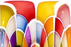 Färgrikt stearinljus Arkivbilder