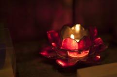 Färgrikt stearinljus Royaltyfria Foton