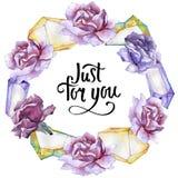 färgrikt steg Blom- botanisk blomma Fyrkant för ramgränsprydnad Arkivfoto