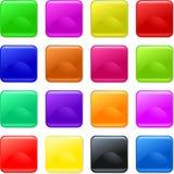 Färgrikt stelna knappar Fotografering för Bildbyråer