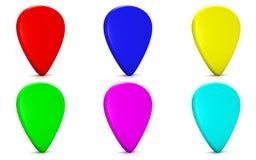 Färgrikt tecken Arkivbild