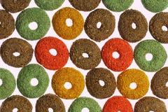 Färgrikt texturera från mat för rodents. Arkivbilder