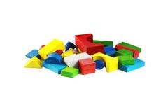 färgrikt toyträ Arkivfoto