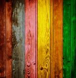 färgrikt trä för bakgrund Stock Illustrationer