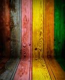 färgrikt trä för bakgrund Royaltyfria Bilder