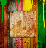färgrikt trä för bakgrund Royaltyfri Bild