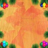 färgrikt trä för bakgrund Arkivfoto