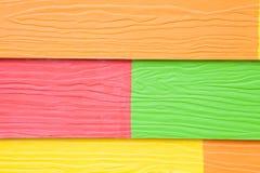 Färgrikt trä texturerar arkivfoto