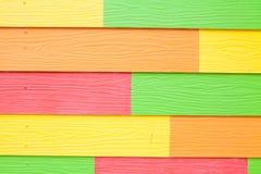 Färgrikt trä texturerar arkivfoton