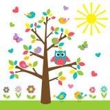 Färgrikt träd Fotografering för Bildbyråer