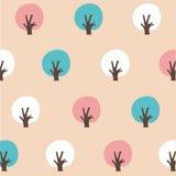 Färgrikt träd för sömlös modell Arkivfoton