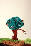 Färgrikt träd från trådar Arkivbild