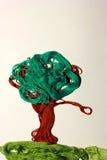 Färgrikt träd från trådar Arkivbilder
