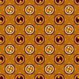 Färgrikt tryck för textilmodeperson som tillhör en etnisk minoritet seamless textur stock illustrationer