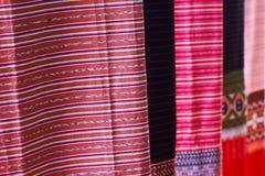 Thailändsk silk. arkivfoto