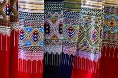 Thailändsk silk. Royaltyfria Foton