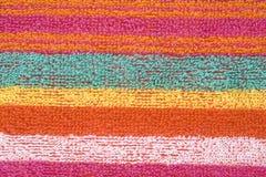 Färgrikt tyg texturerar arkivfoto