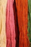 färgrikt ullgarn Fotografering för Bildbyråer