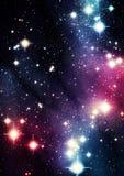 Färgrikt universum Royaltyfri Bild