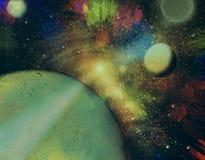 färgrikt universum Arkivfoton