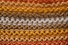 Färgrikt väva som göras av plast- material Royaltyfri Fotografi