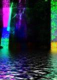 färgrikt vatten Royaltyfria Foton