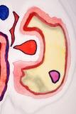 Färgrikt vattenfärgabstrakt begrepp Arkivfoton