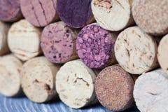 Färgrikt vin korkar closeupen Royaltyfria Foton