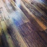 Färgrikt wood golv royaltyfria foton
