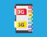 färgsärdrag för anslutning 3G royaltyfri illustrationer