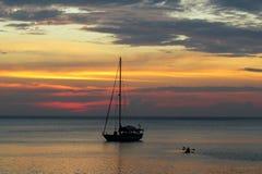 Färgsammanfogning i solnedgången Royaltyfri Fotografi