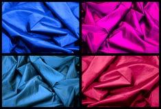 färgsilktexturer Arkivfoton