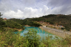 Färgsjön för qicaihu sju Arkivbilder