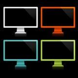 färgskärmar Arkivfoton