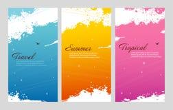 Färgsommaruppsättning med färgstänk Royaltyfria Foton